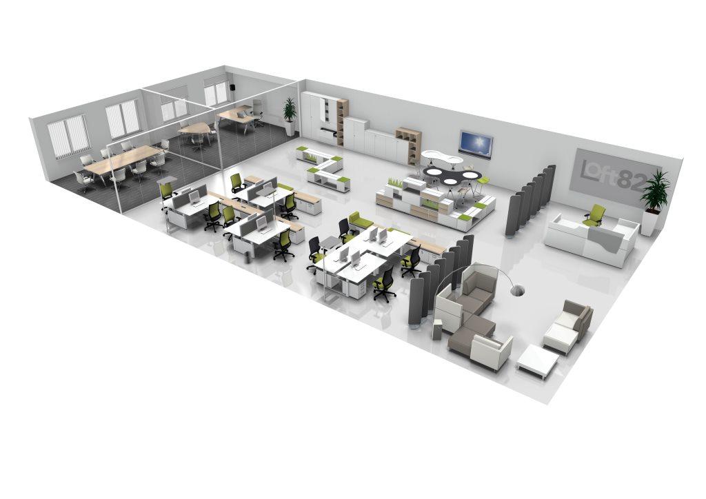 Loft82 s a s arredo ufficio milano contract ufficio for Arredo ufficio milano